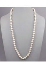 Golden Stella 10mm Pearl Necklace Cream Pearl