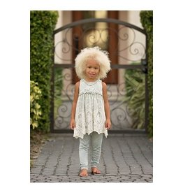 Isobella & Chloe 2pc Lace Overlay Tunic & Pant Set