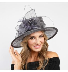 Something Special LA Med Brim Sinamay Hat - Grey