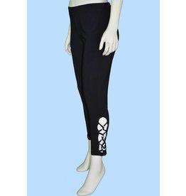 Pretty Woman Legging w/ Lattice Work B&W Plus