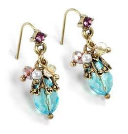 Sweet Romance Ocean Colors Cluster Earrings