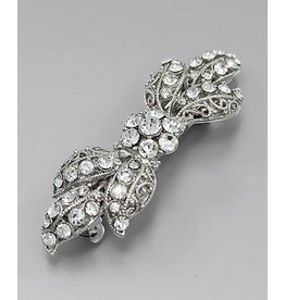 Golden Stella Crystal Acanthus Leaf Barrette