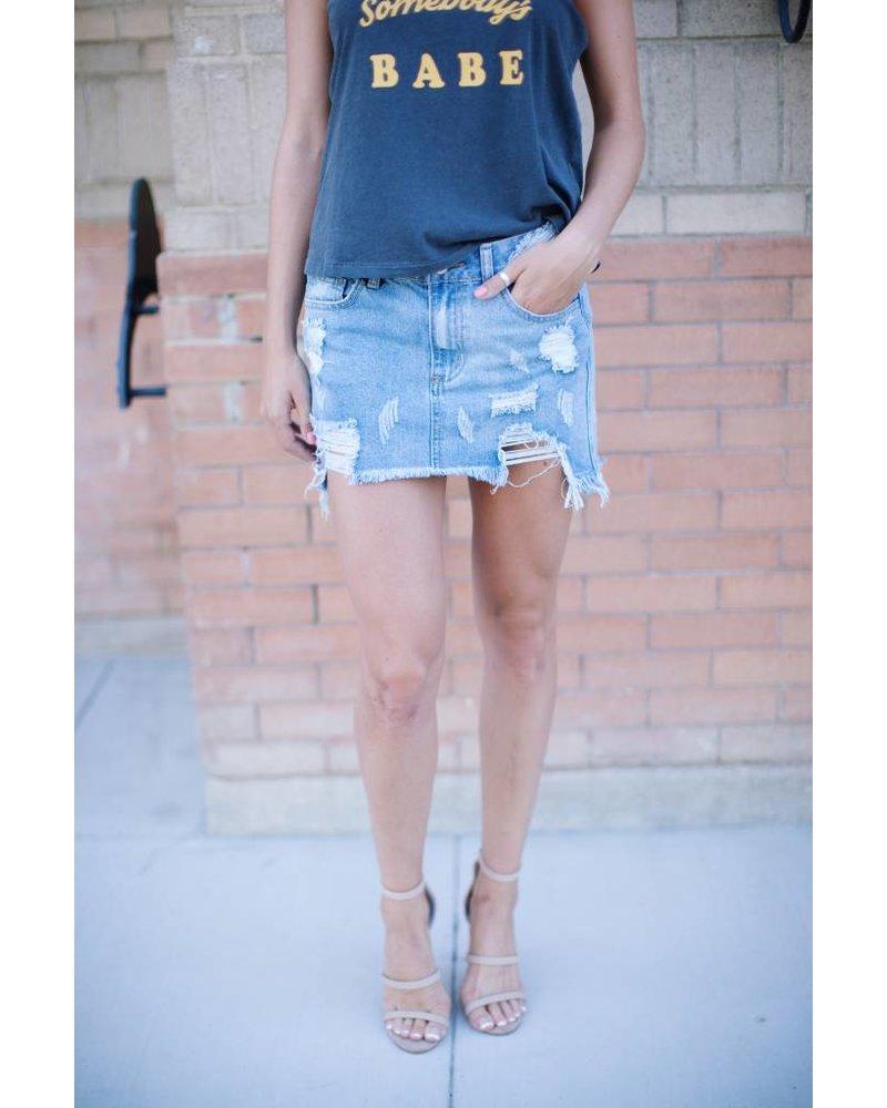 Tommy Boy Denim Skirt