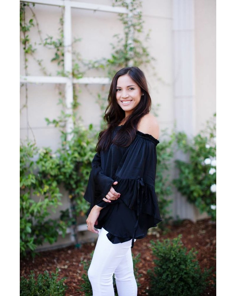 Mason Black Blouse