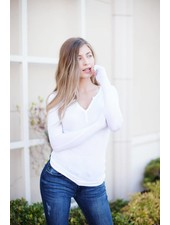 Trace White Tee