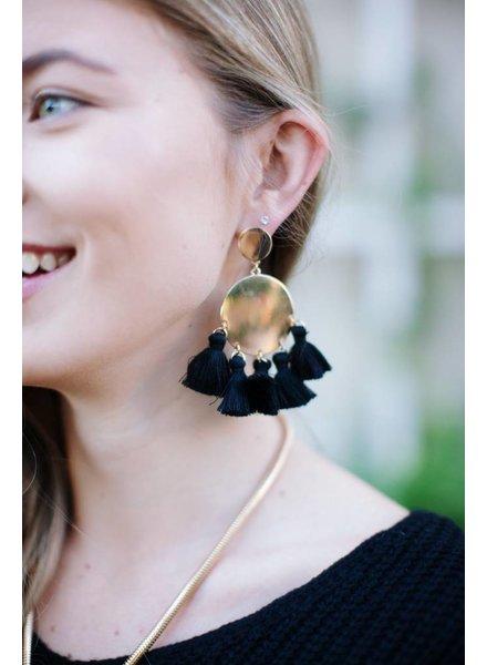 Caraway Black Earring