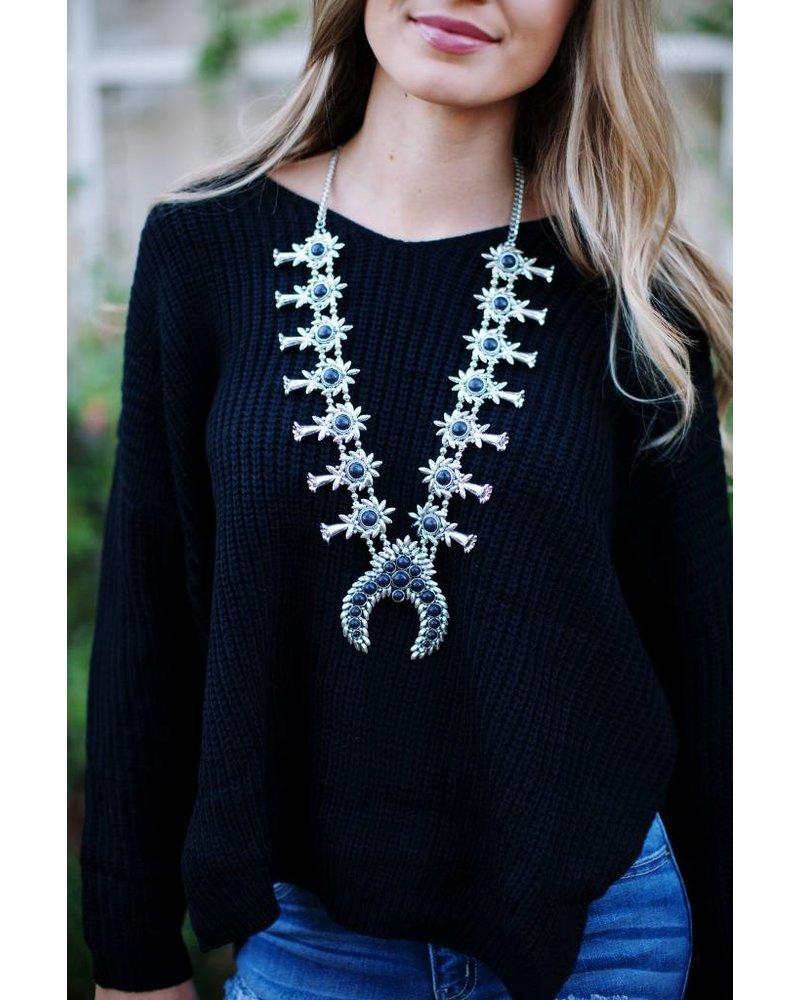 Scotland Black Blossom Necklace