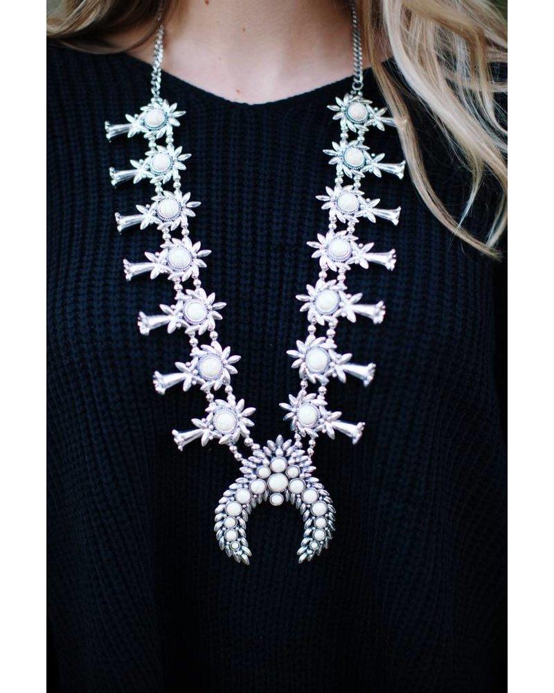 Scotland White Blossom Necklace
