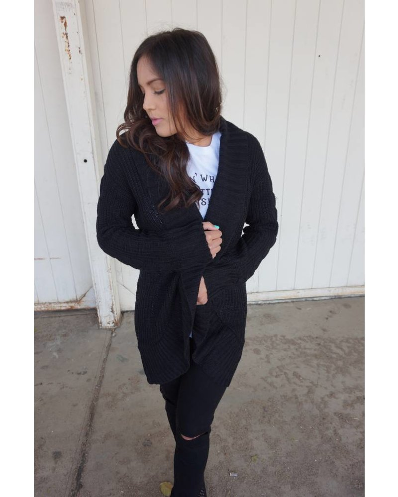 Ashland Black Knit Cardigan - Heart Boutique