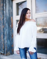 Brinly White Blouse