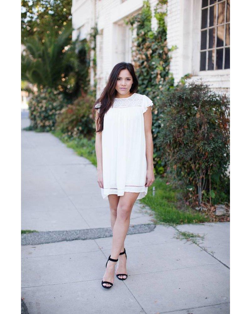 Lyndi Flutter Sleeve Dress
