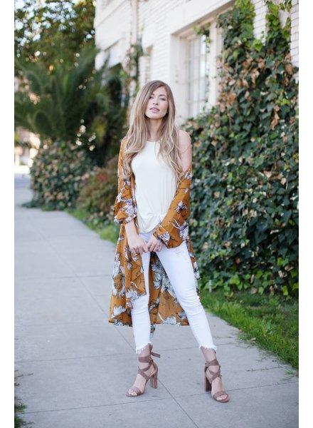 Haley Mustard Duster Kimono