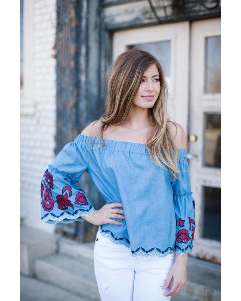 Daniella Denim Blouse