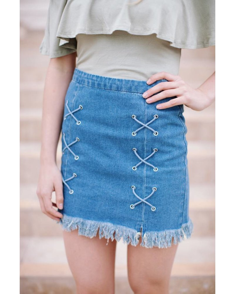 Decadent Denim Skirt