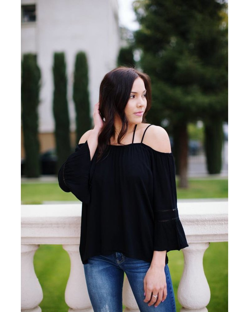 Marigold Black Blouse
