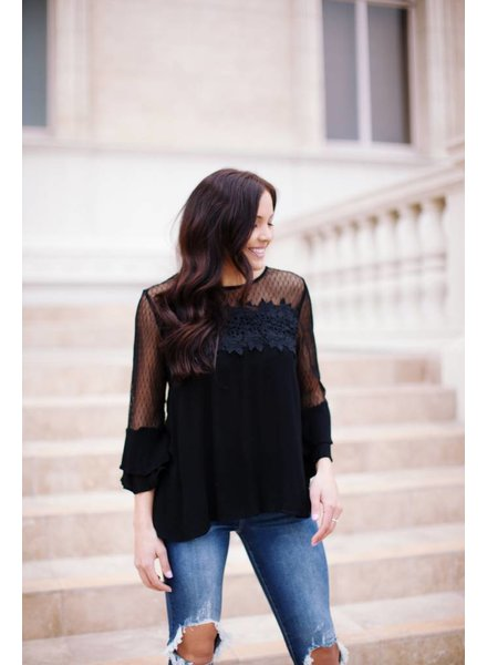 Steele Black Blouse