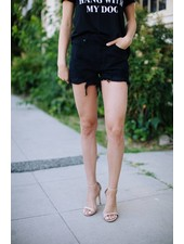 Jeffy Black Distressed Short