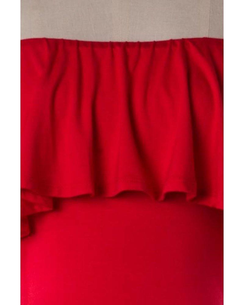 Ira Red Bodysuit
