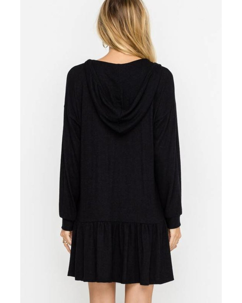 Hacci Hooded Dress