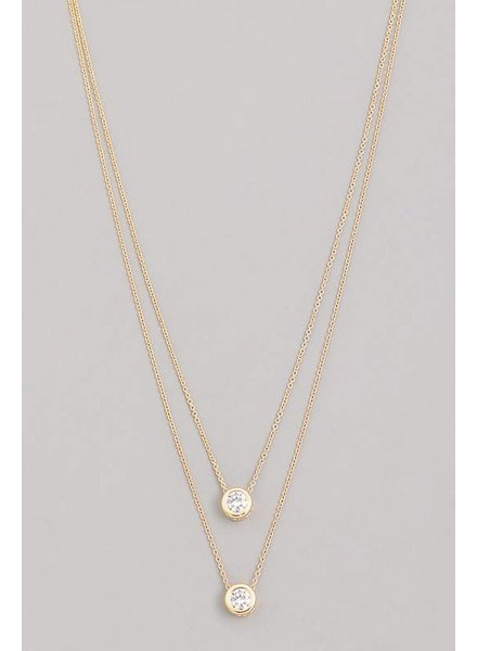 Sien Layered Stone Necklace