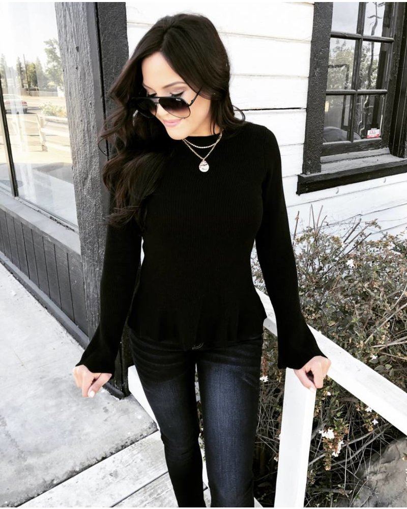 Saila Black Sweater