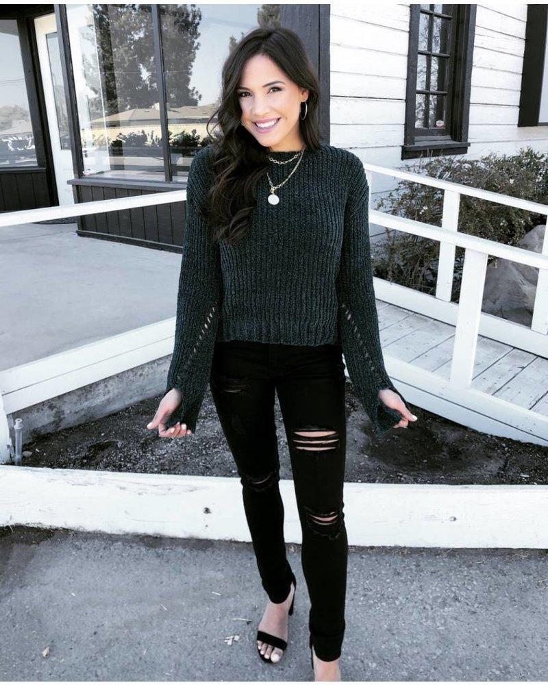 Winona Teal Sweater