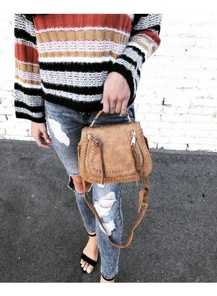 Rockland Tan Handbag