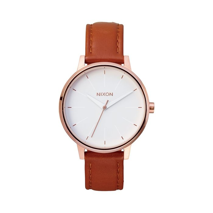 Nixon - Kensington Leather Rose Gold/White
