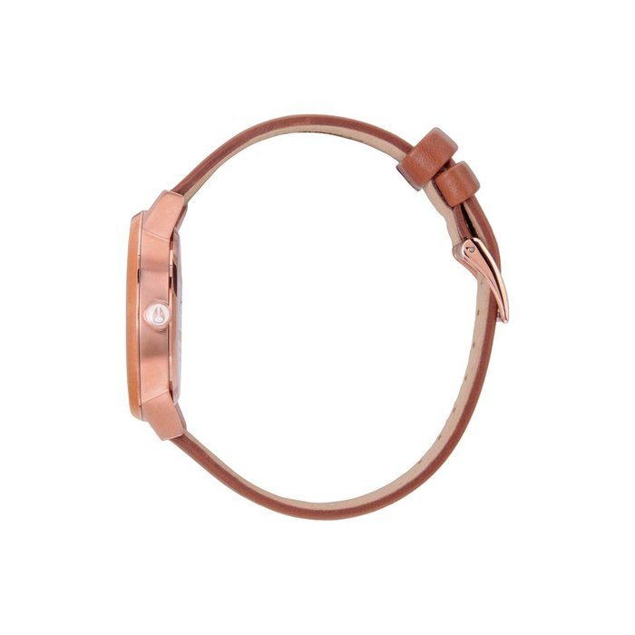 Nixon - Kensington Leather Rose Gold/White