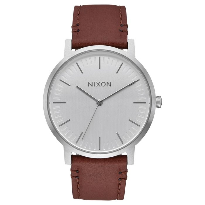 Nixon - Porter leather silver/brown