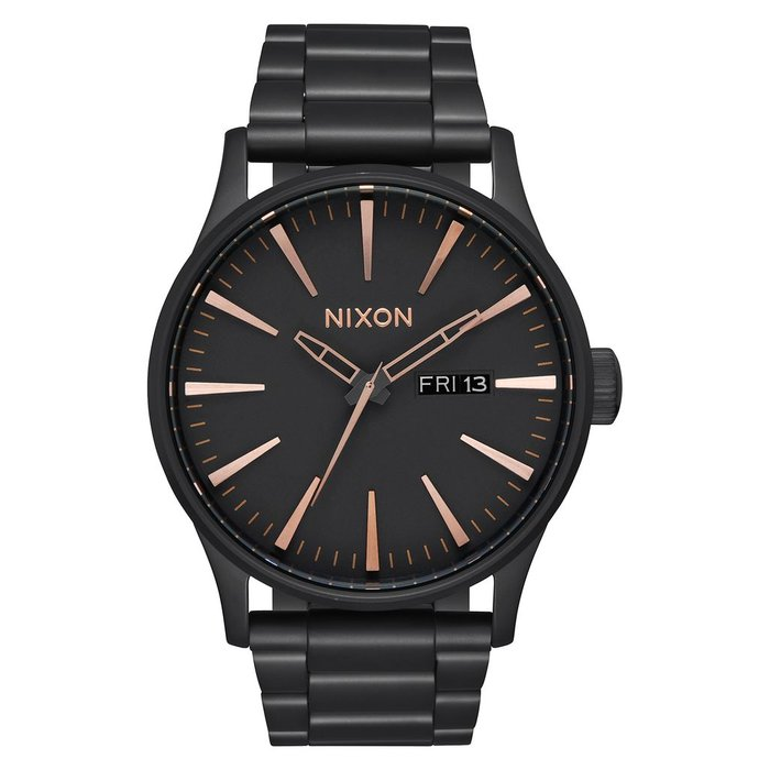 Nixon - Sentry SS All Black/Rose Gold