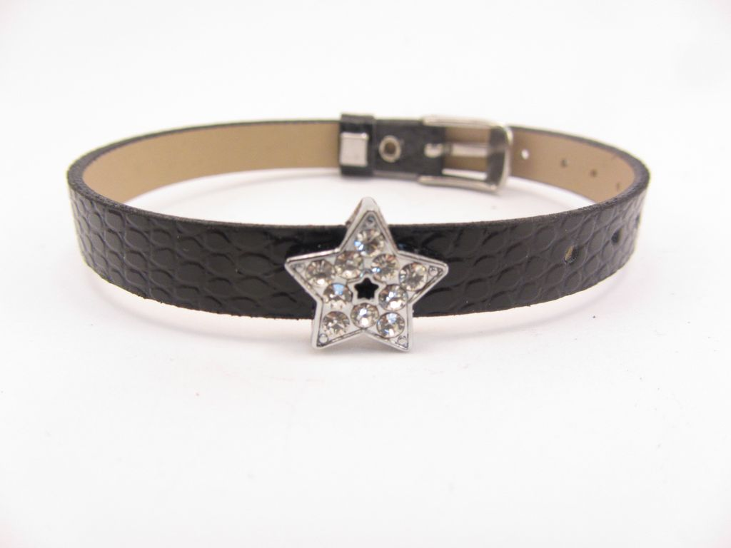 Sliding Charm Clear Rhinestone Star