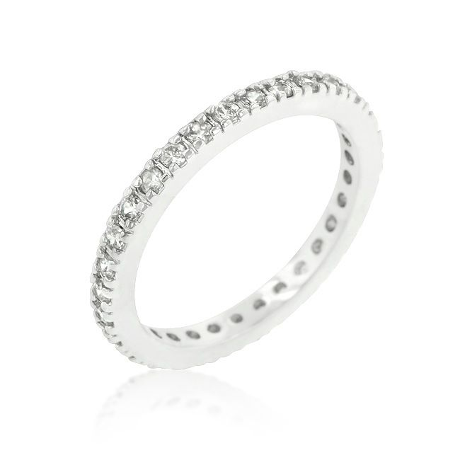 Delicate CZ Eternity Band