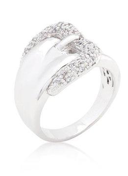 Simple CZ Belt Ring