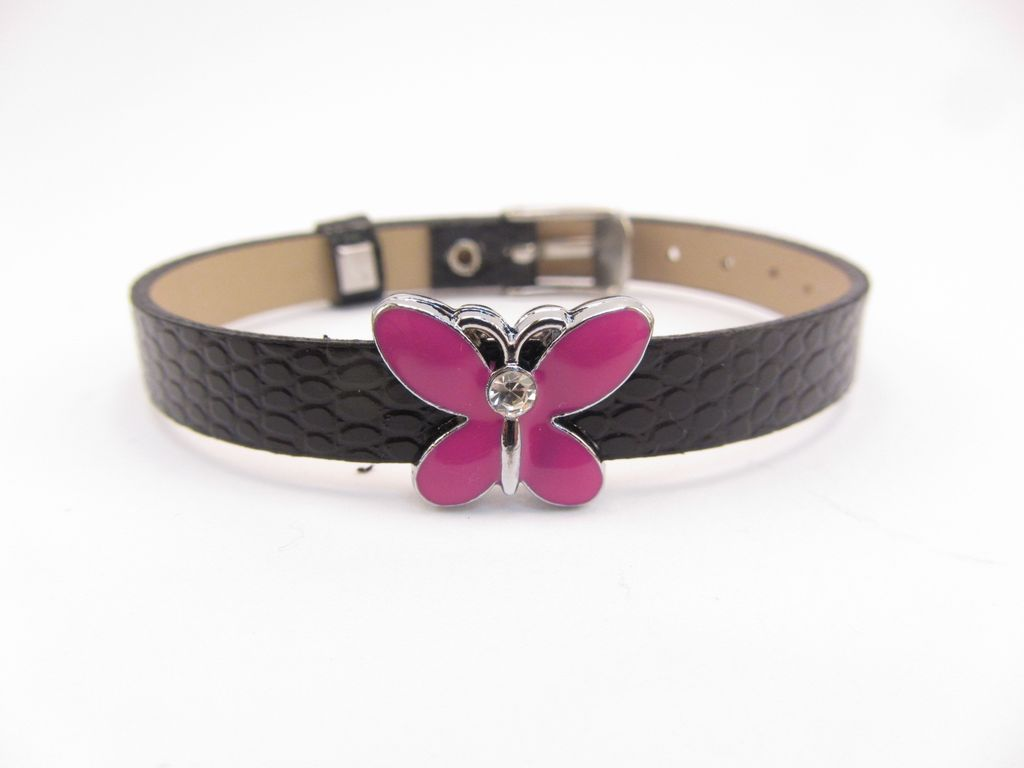 Sliding Charm Pink Butterfly