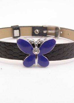 Sliding Charm Purple Butterfly