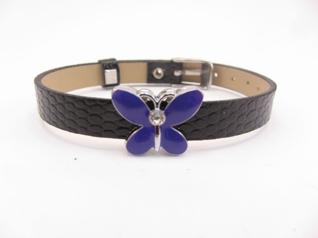 Sliding Charm Purple Butterfly