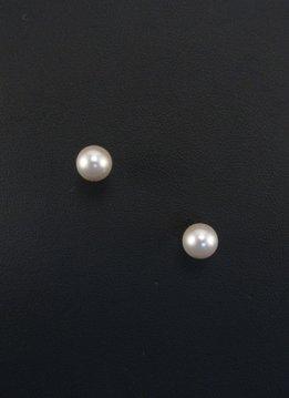 8mm Beige Pearl Earrings