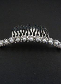 Rhinestone & Pearl Comb