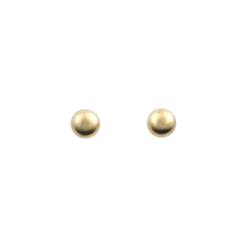 6mm Matte Gold Ball Stud