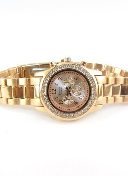 Gold Tone Link Watch