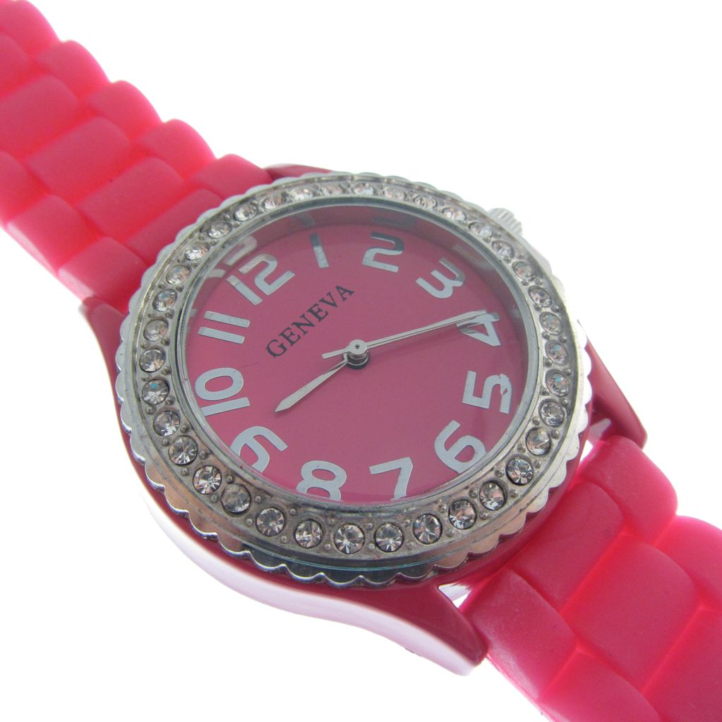 Hot Pink Silicone Watch