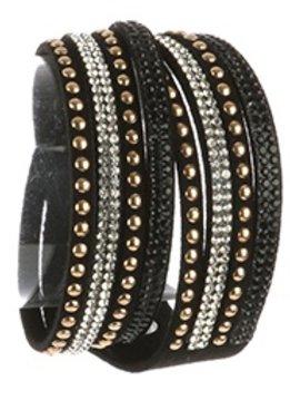 Black Studed Wrzp Bracelet