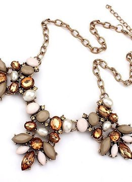 Beige Statement Necklace