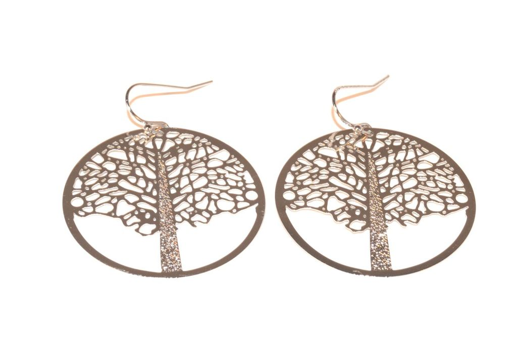 Gold Tree of Life Filegree Earrings