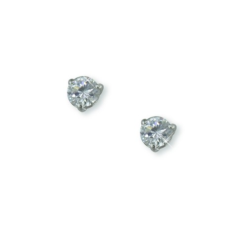 4mm Nickel Free Round CZ Stud Earring