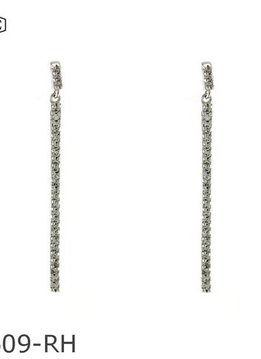 Cubic Zirconium Dangle Earrings in Silver