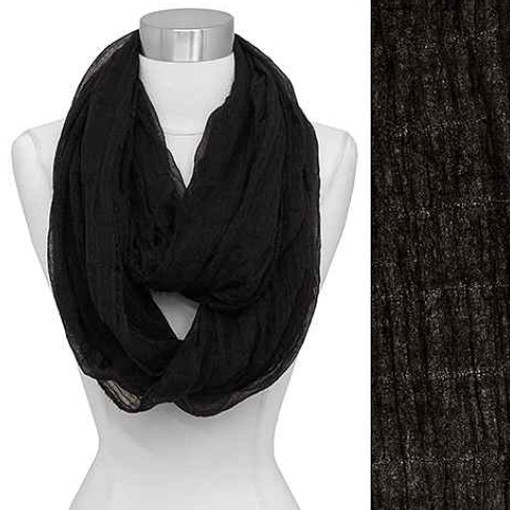 Light Weight Spring Black Infinity Scarf