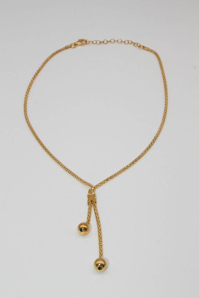 terling Silver Yellow Gold Pendant Necklace