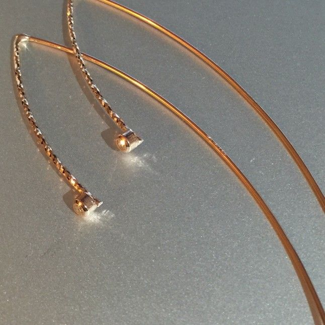 Rose Gold Threader Earrings